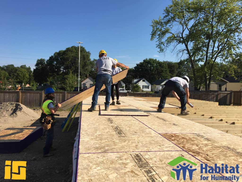 Habitat for Humanity & Ironstone Construction Workers