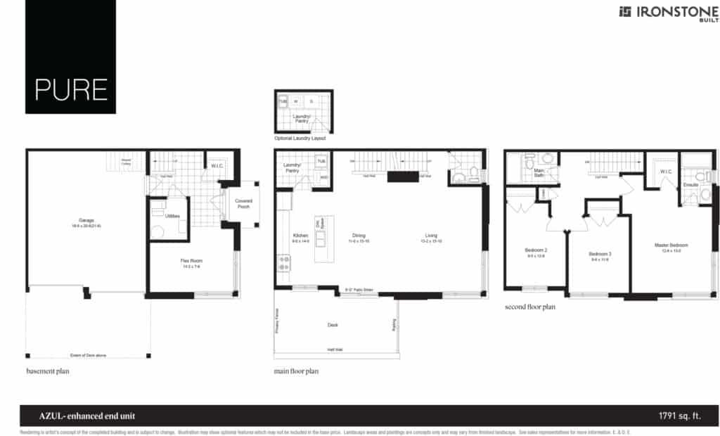 Azul - Enhanced End Unit Floor Plan