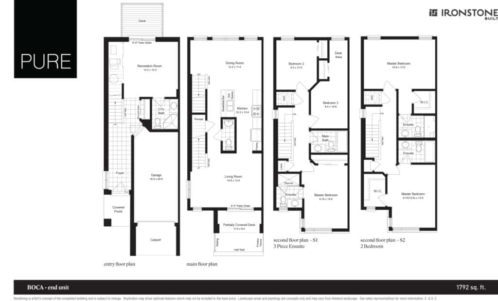 Boca - End Unit Floor Plan