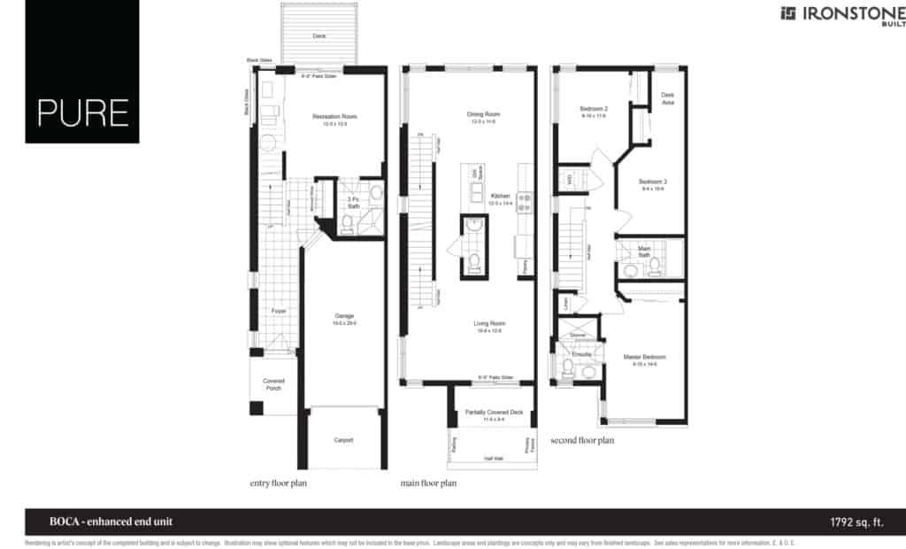 Boca - Enhanced End Unit Floor Plan
