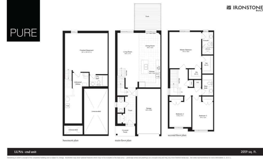 Luna - End Unit Floor Plan